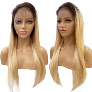 blonde wig with dark roots