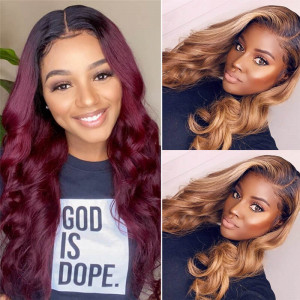Body Wave Colored Wig
