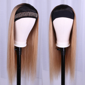 Brown Omber Color Headband Wig
