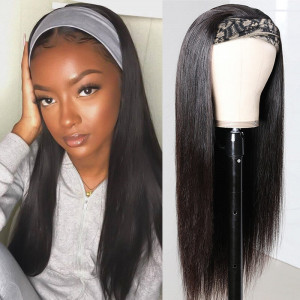 Headband Wigs Straight Hair