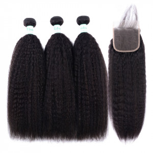Kinky Straight Weaves With Closure