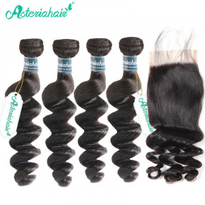 4 Bundles Loose Wave Brazilian Hair