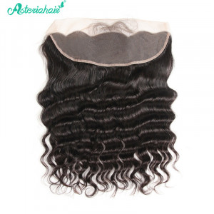 AsteriaHair Brazilian Virgin Hair Loose Deep 13*4 Lace Frontal Human Hair