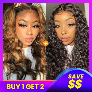 Piano Colored Wig T Shape Lace Wig Pack