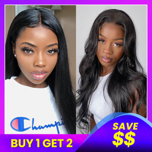 Straight Body Wave T Shape Lace Wigs Pack-1