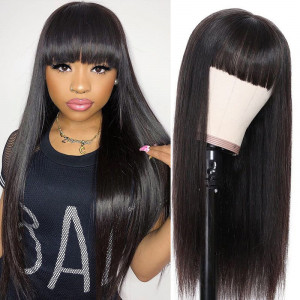 Straight Wig With Bang