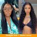 Water Wave & Straight Hair T Shape Lace Wig Pack
