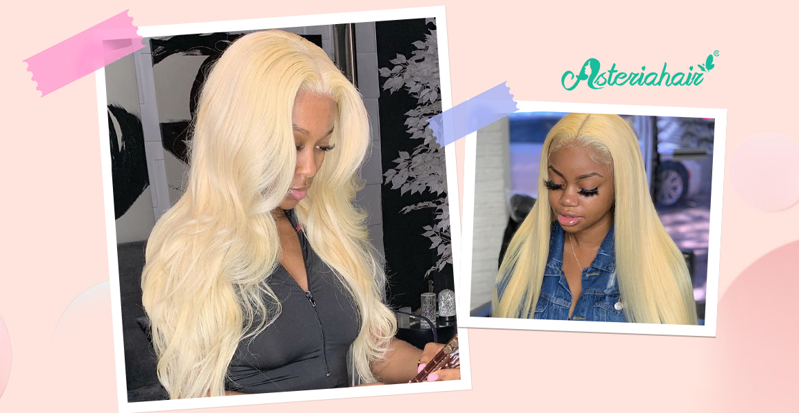 Asteria Straight Lace Front Wigs 613 Blonde Wigs