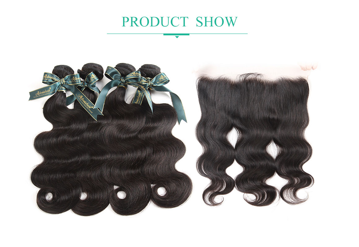 4 bundles body wave with lace frontal