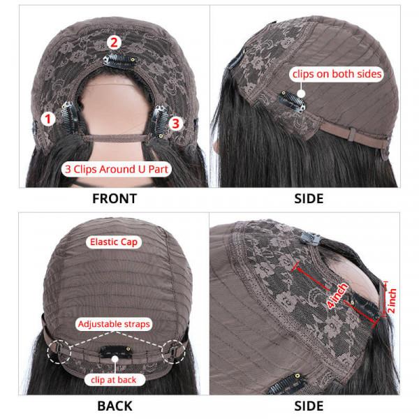 Asteria Hair Human Hair U part Lace Wigs