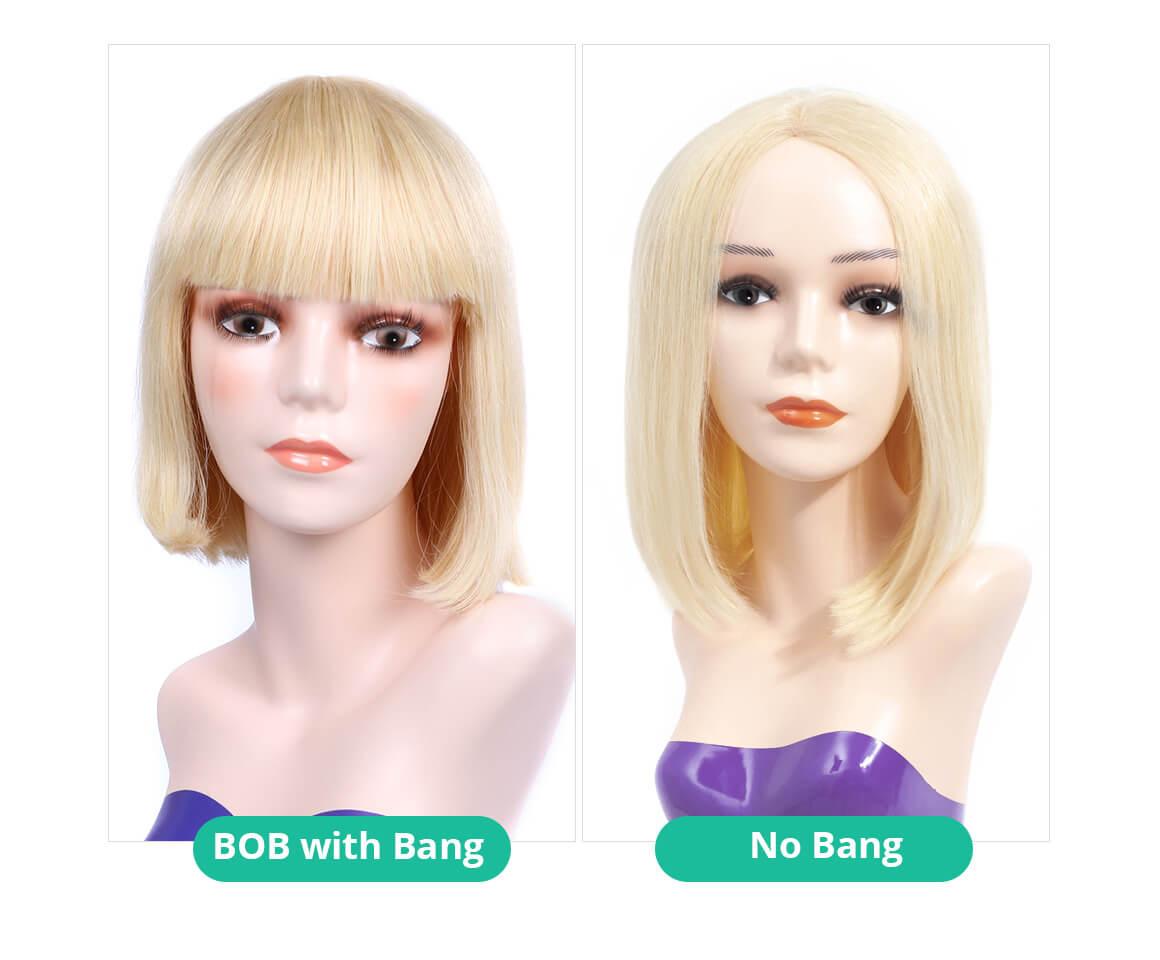 613 Middle Part  Bob VS. Bang Bob
