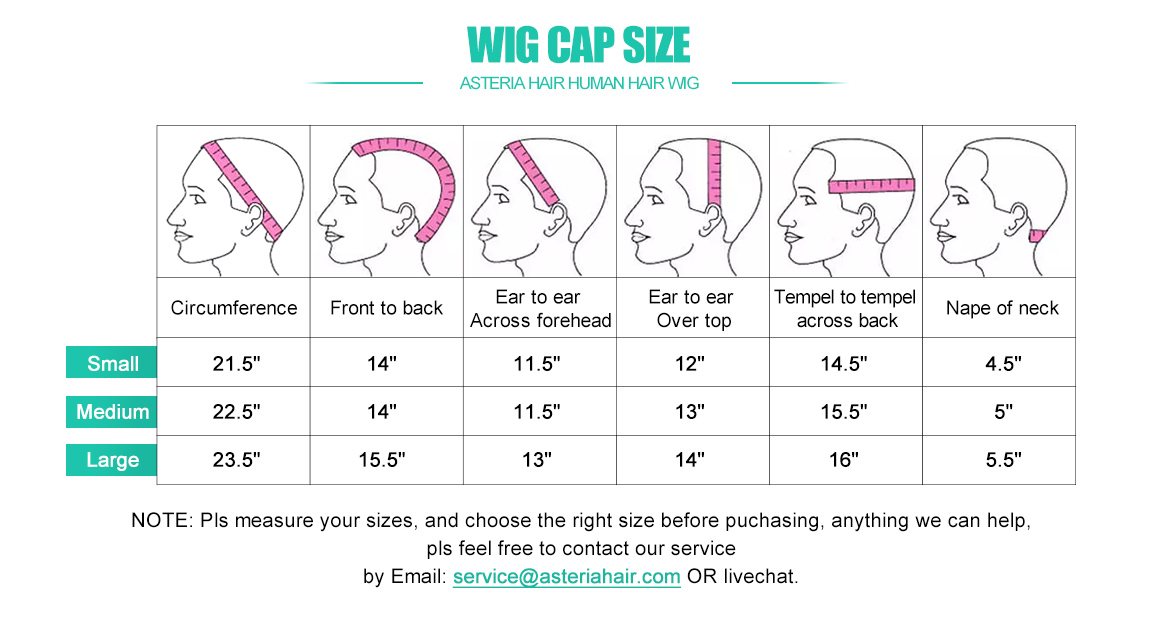 Human Hair Wig Cap Size Measurement