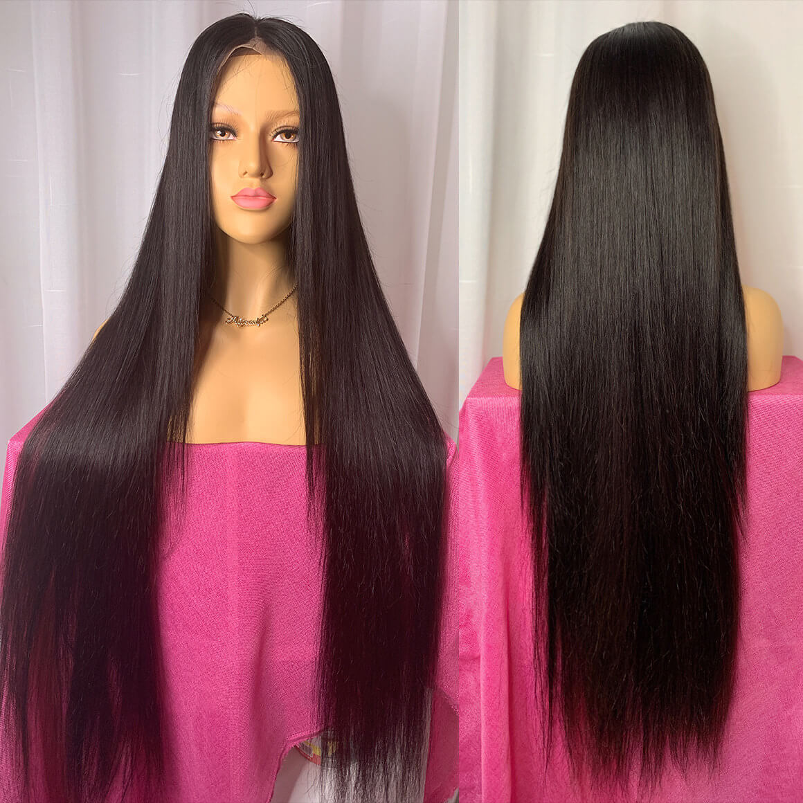 36inch long straight wig