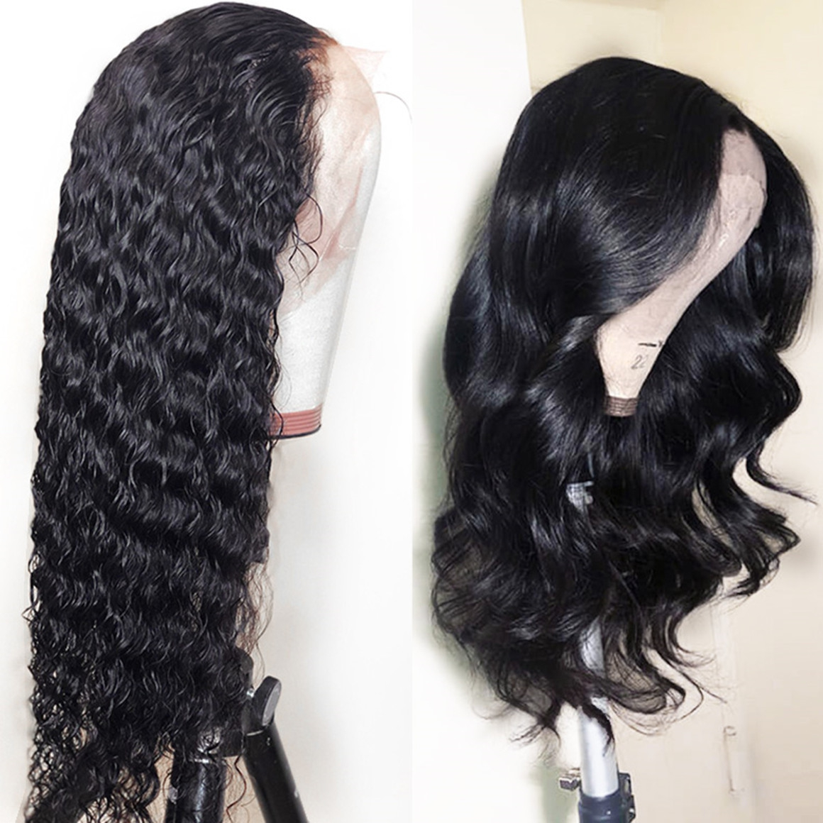 straight human hair lace front wigs on sales