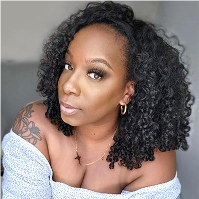 CURLY HEADBAND WIG - HAIRLINE PROTECTIVE