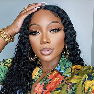 16in-40in DEEP WAVE LACE FRONT WIG